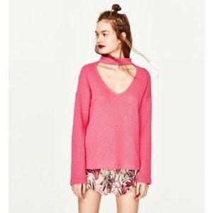 🎉 🎊 HOST PICK 🎉 🎊 Zara Trafaluc Pink Sweater, Size M